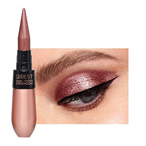 Double-end Waterproof Liquid Eyeshadow Eyeliner Combination Easy to Wear Makeup Multipurpose High Light Shadow Eyeliner Pencil (O)