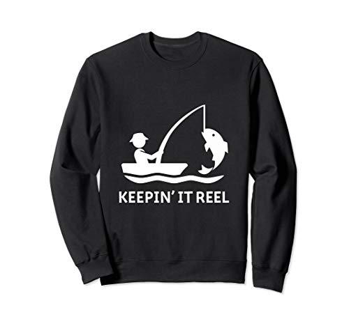 Lustiges Fischen Hemd Mann Geschenk ihn Keein es Bandspule Sweatshirt
