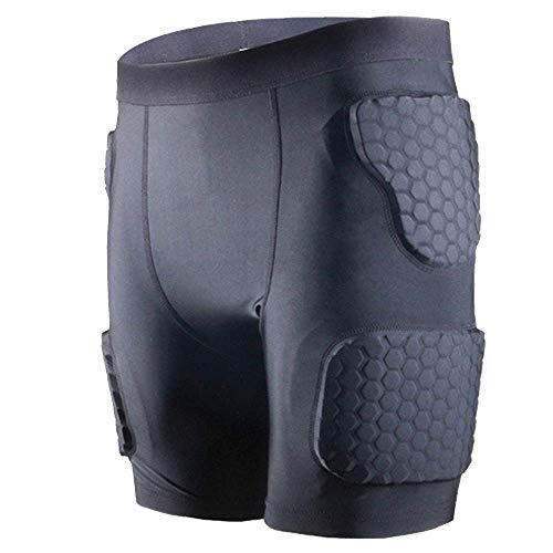 3D Ha Riempito di Protezione Shorts Hip Butt Eva Pad Pantaloni di scarsità, Testa A Testa Guardia...