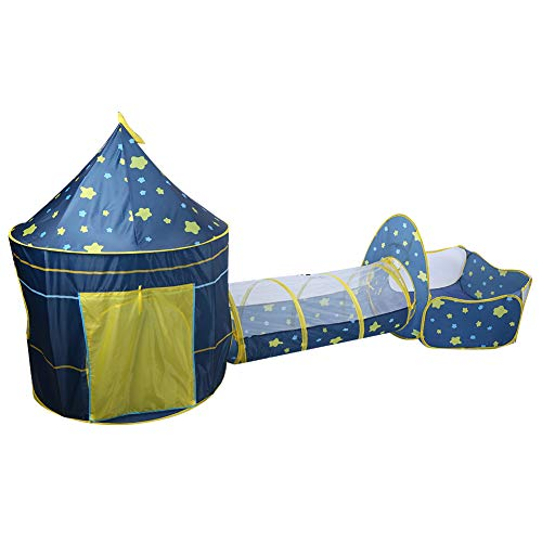 Play Tents,3 in 1 Baby Toddler Pop Up Tent Foldable Kids Game Playhouse Portable Breathable Play House Children Play Tent with Tunnel and Ball Pool Playhouse for Kids Children Outdoor Indoor Activity