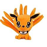 N / A Lindo Anime Naruto Kyuubi Kurama Muñeca de Peluche Relleno Suave Nueve Cuentos Fox Animales Juguete Regalos creativos para niños Niños 25CM