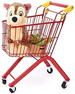 RAINBOW TOYFROG Kids Shopping cart-Toy Grocery Trolley for Pretend Play-Study Metal Steel Frame with Beautiful Colors