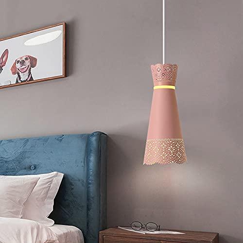 SDFDSSR Lámpara Colgante E27 Moderna Y Simple con Recorte De Vestido, Lámpara Colgante De Hierro Forjado Tallado, Color, Lámpara Colgante Ajustable Opcional, Adecuada para Isla De Cocina, Oficina