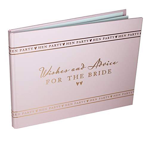 Amore Gästebuch für Junggesellinnen-Abschied Hen Party Wishes & Advice, für die Braut, rosa