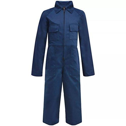 vidaXL Mono Infantil Niños con Bolsillos/Cremalleras Color Azul/Gris