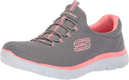 Skechers Damen 12980 Sneakers, Grau (Grey/Pink),39 EU