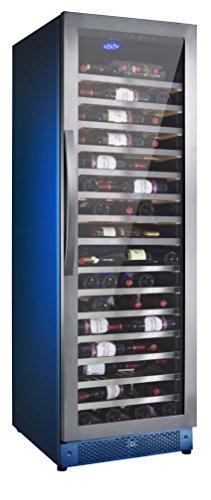 Cantina vino da 171 bottiglie Nevada Frigo vino ad 1 temperatura da 5/22°C Classe energetica B Cantinetta vino con cassetti in legno frontalino in acciaio porta special inox con maniglia inox Installazione Libera e Incasso