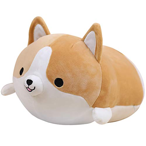 Anime Plushie Shiba Inu Hugging Pillow Shiba Plushie Toy Cute Corgi Plushie - Peluche de peluche para perros y animales (23,6 pulgadas)