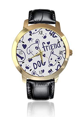 Bull Terrier perro amigo personalizado moda clásico reloj de cuarzo analógico reloj de pulsera...