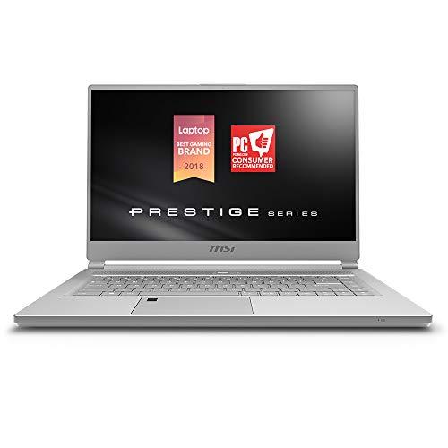 "MSI P65 Creator 8RE-020 Thin Bezel Gaming/ Productivity Laptop 15.6"" 100% sRGB Display GTX 1060 6G i7-8750H 16GB 512GB NVMe SSD Win 10 PRO, Aluminum Silver"