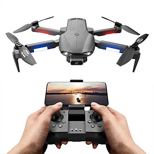 FMHCTN Drone con cámara HD de 6K 30 Minutos Mini Drones para Adultos 3KM GPS Fotografía aérea Profesional Drone Motor sin escobillas Plegable RC Quadcopter, 4 baterías (2 * Batería)