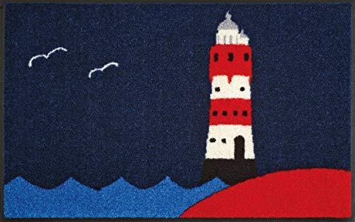 Wash+Dry 008590 Fußmatte Leuchtturm, 50 x 75 cm