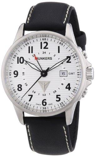 Junkers 6848-1 Herren-Armbanduhr XL Quarz Leder