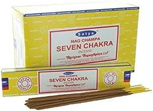 Satya Seven Chakra Incense Sticks - 180 Grams - Premium Indian Incense