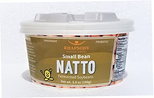 SMALL BEAN ORGANIC NATTO, Made in Vermont - Sticky Fermented Certified Organic Soy Beans, 3.5 oz -...