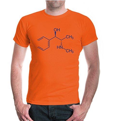 T-Shirt-Strukturformel-Ephedrin-M-Orange-Royal