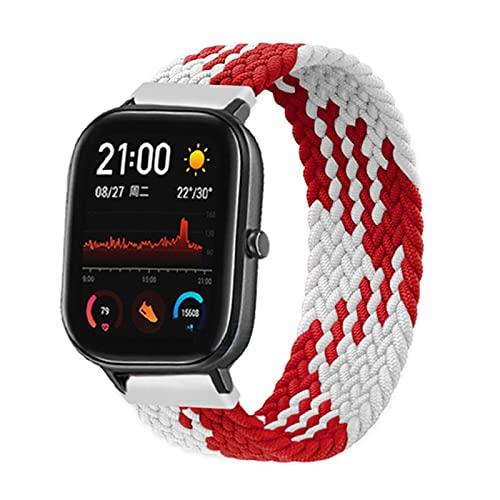 Trenzado SOLO LOOP correa para Amazfit Bit/Gts2/42mm smartwatch para GTR/GTS 47mm 42mm pulsera smartwatch banda, 20mm,