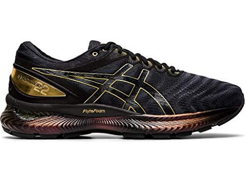ASICS Men's Gel-Nimbus 22 Platinum Running Shoes, 10M, Black/Pure Gold