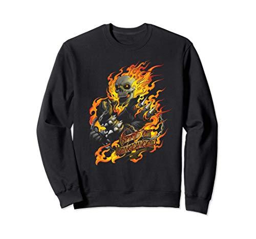 Marvel Ghost Rider Spirit of Vengeance Flaming Skull Sudadera