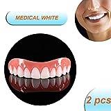 DYSEL Quick Provisorischer Zähne Zahnersatz für Oben und Unten Natürliche Zahnprothese Schnell...