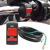 Botón de luz del manillar de la motocicleta, interruptor de luz LED universal de la motocicleta Control de los faros del manillar encendido/apagado 22-25 mm