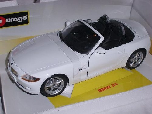 B-M-W Z4 E85 Cabrio Weiss Roadster 2002-2008 1/18 Bburago Modell Auto mit individiuellem Wunschkennzeichen