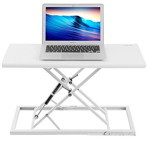 HPDOP Avolo Regolabile in Altezza, Standing Desk ,Scrivania Computer Gaming, Postazioni di Lavoro per Computer, Ergonomico, Banco da Lavoro Pieghevole Portatile,White