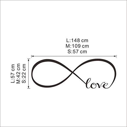 tomation Love English Wandaufkleber 8274A (mit Luftpolsterverpackung)