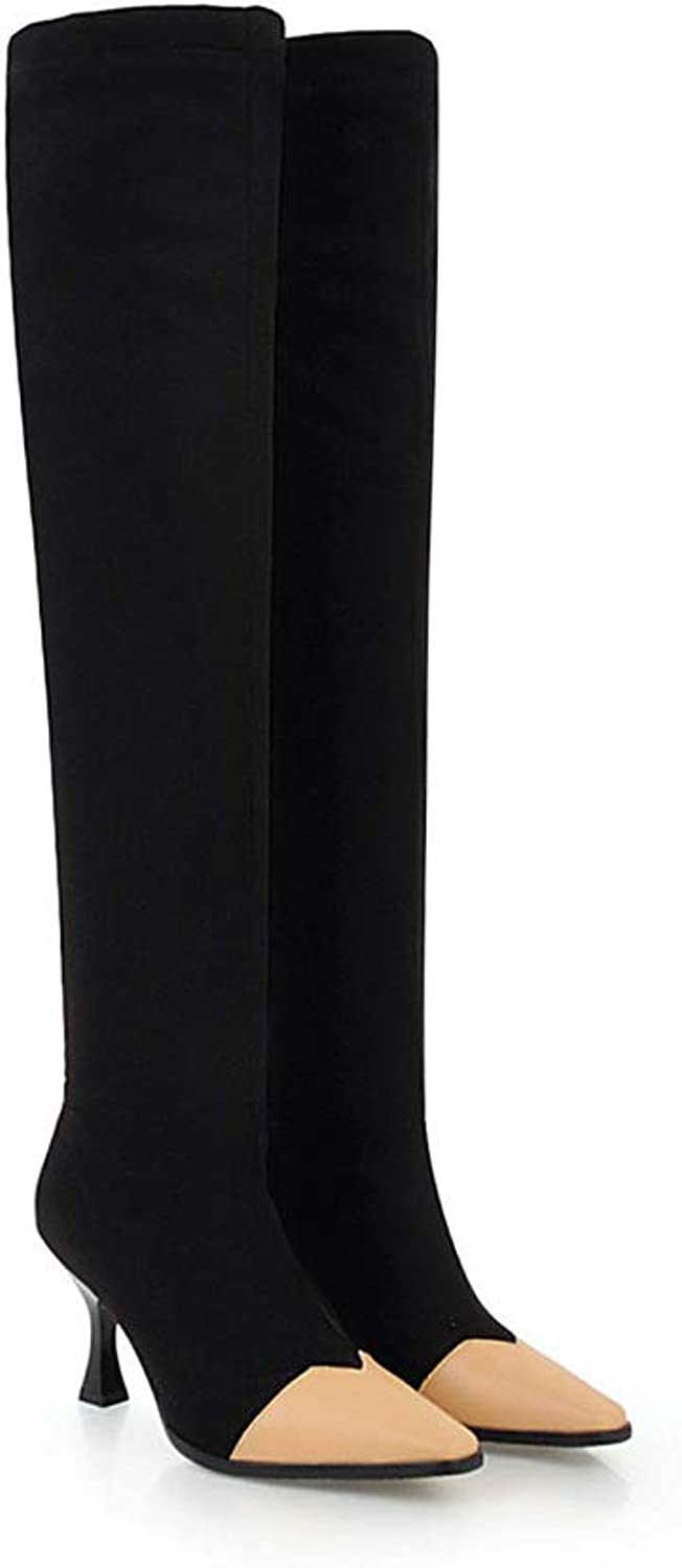 Wetkiss Plus Size Brand Design Over The Knee Boots Women high Heel shoes Thigh high Boots Winter Lady Footwear
