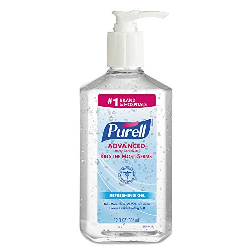 PURELL 3659-12 Advanced Instant Hand Sanitizer, 12-Oz. Pump Bottle