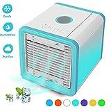 Climatiseur Mobile Ventilateur USB Portable Refroidisseur D'air Personnel Puissant pour Bureau Voiture (Blanc)