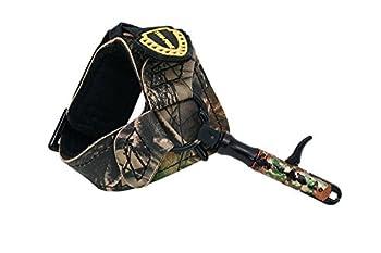 TruFire Edge Buckle Foldback Adjustable Archery Compound Bow Release - Camo Wrist Strap with Foldback Design