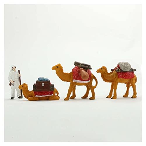 Miniature Collectible Figurines Planter-Pot Decoration - Realistic Desert Camel Animal Figurine DIY Miniature Landscape Garden Decoration 4pcs Miniature Figurine