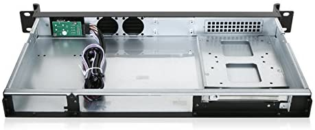 iStarUSA D Value D-118V2-ITX 1U Rackmount Mini-ITX Server Chassis (Black)
