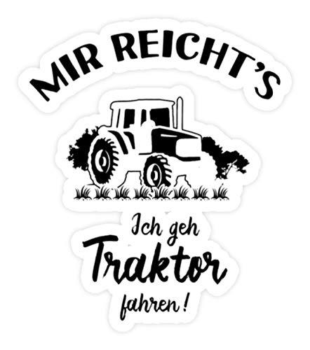 shirt-o-magic Aufkleber Landwirt: Ich geh Traktor fahren! - Sticker - 5x5cm - Weiß