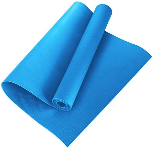 ARNV Yoga and Exercise Mat with Carrying Strap, 8mm (Blue) (Made in India)