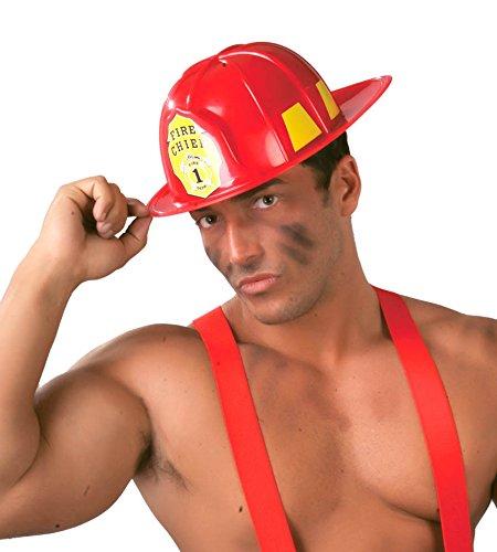 Fiestas Guirca Casque de Pompier en Plastique de Pompier