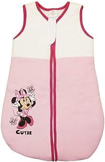 Super Süsses Minnie Mouse Mädchen Baby Schlafsack in Größe 56 62 68 74 80 86 92 98 104 110 Baumwolle von Disney erstklassige Qualität 0 3 6 9 12 Monaten 1 2 3 Jahre, Warm Farbe Hellrosa