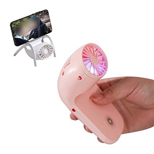 GJXJY Ventilador Portatil Silencioso Pequeño Mini Silencioso Fan con 1200mAh Batería Ventilador Recargable USB para Viajes en el Hogar/Oficina/al Aire Libre (3 Velocidades)
