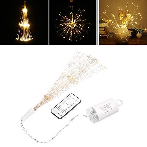 Galapara Luces LED de Fuegos Artificiales, 150 Luces LED a Prueba de Agua Flash de Navidad Sala de Control Remoto, Fuegos Artificiales para jardín, terraza, Boda, Fiesta, decoración de Bricolaje