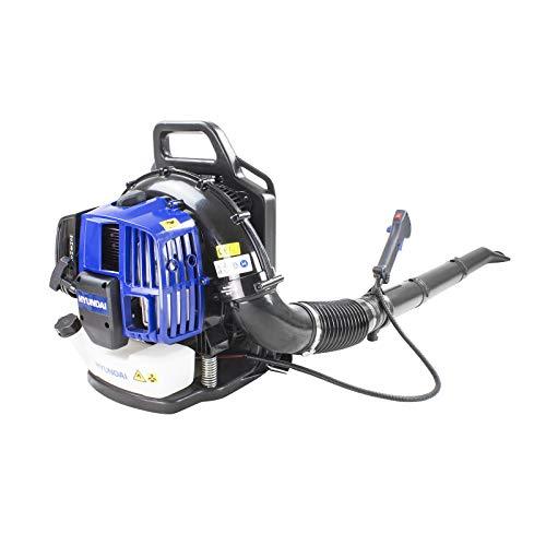 Hyundai Powerful Petrol Backpack Leaf Blower, 52cc 2 Stroke Engine, 3 Year Warranty, Petrol Leaf Blower, Lightweight & Manoeuvrable, Home Improvement, DIY & Tools, Blue
