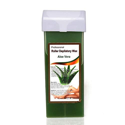 N/M Kit de Cire Ge, épilation à la Cire pour Les Femmes Kit de Cire à la Maison Spatule en Bois Baume apaisant à l'humidité Épilateur Naturel Cire Chaude Micro-ondable