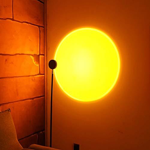 SOLLA Sunset Flood Light,Sunset Projection Lamp,360 Gradi Tramonto Luce,Luce per Fotografie Camera Da Letto Matrimonio Festa di Compleanno