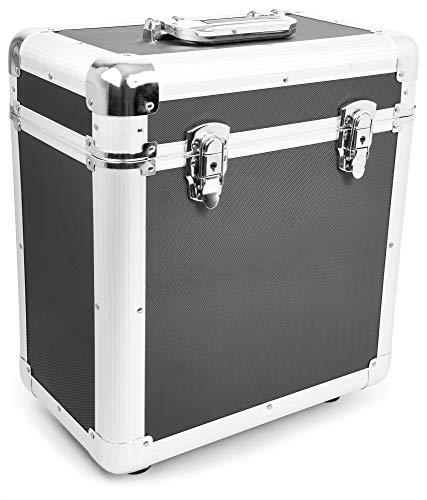 Power Dynamics RC80 Maleta para discos de vinilo (rack portátil para 80 discos LPs de 12', interior de gomaespuma, ligero armazón) - negro
