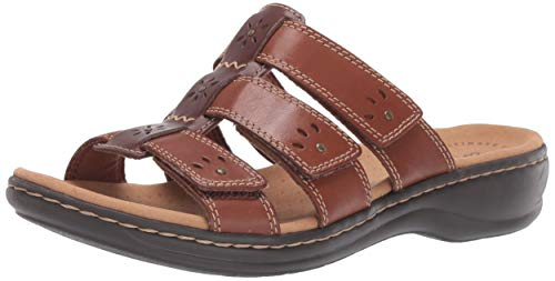 Clarks Women's Leisa Spring Sandal, Brown Multi Leather