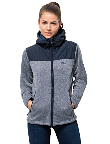 Jack Wolfskin Damen Pacific Sky Jacket Fleecejacke, blau (midnight blue), L