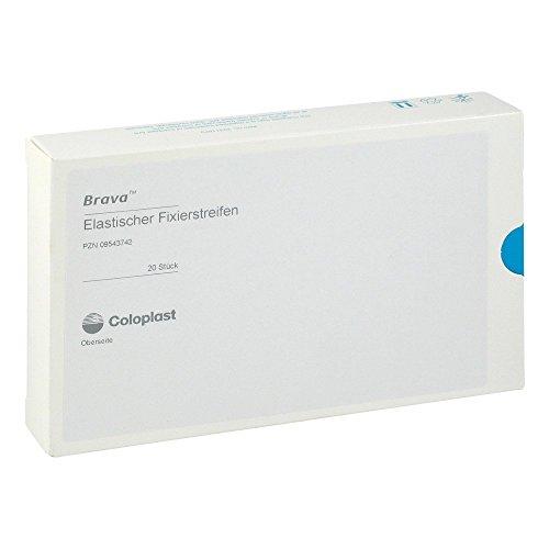 BRAVA elastischer Fixierstreifen gebogen 20 St