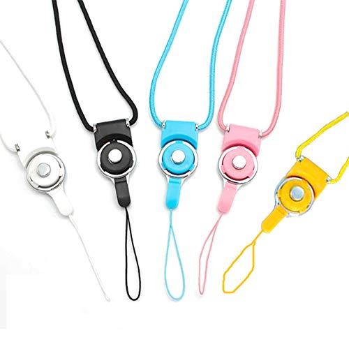 Xinlie Cordones para el cuello desmontable para Teléfono Móvil Clave Cadena Correa Cordón de Nylon para Teléfono móvil Cámara iPod MP3 MP4 USB Flash Drive Tarjeta de Identificación Insignia 5 Pcs