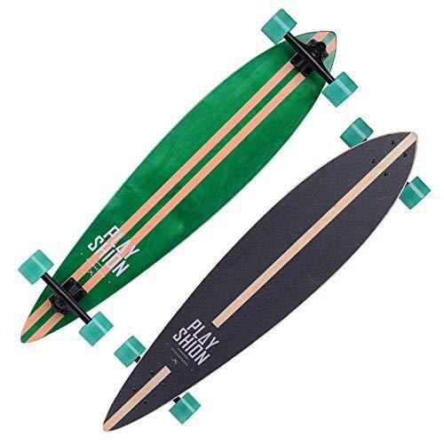 Hignful Skateboard Professionale Pintail Cruiser Longboard Skatemax Junior Il Fantastico bambù Strisce Brush Street Hoverboard Penny Board per Adulti Principianti Carving E Commuting 42\'\'
