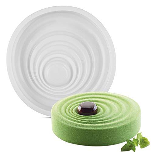 KJLM Runde Silikon-Kuchenform Pan, 8-Zoll-Nonstick Backformen Backform, Flexibles Silikon FDA-Zertifiziert und BPA (Runde)